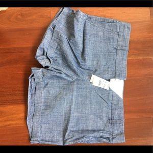 Jcrew size 10 chambray flat front shorts